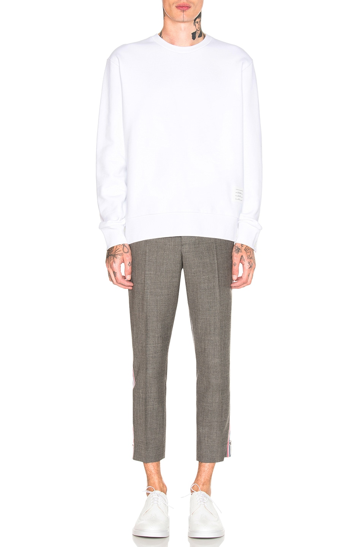 Image 5 of Thom Browne Back Stripe Crewneck Pullover in White