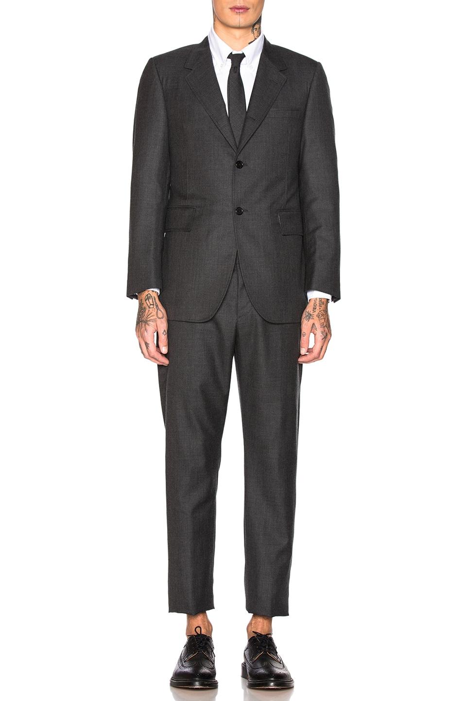Image 2 of Thom Browne Wide Lapel Suit in Dark Grey