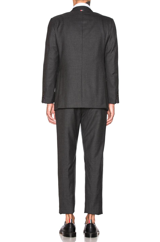Image 4 of Thom Browne Wide Lapel Suit in Dark Grey