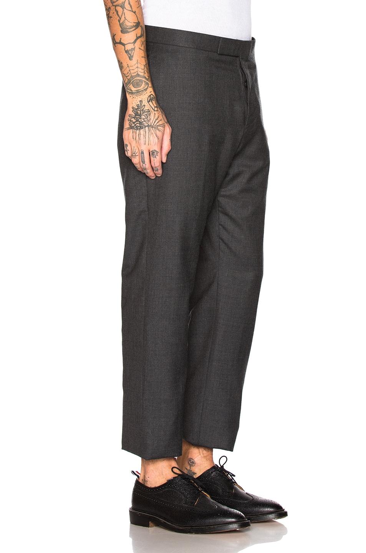 Image 6 of Thom Browne Wide Lapel Suit in Dark Grey