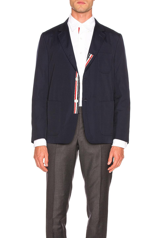 Image 1 of Thom Browne Patch Pocket Blazer in Navy