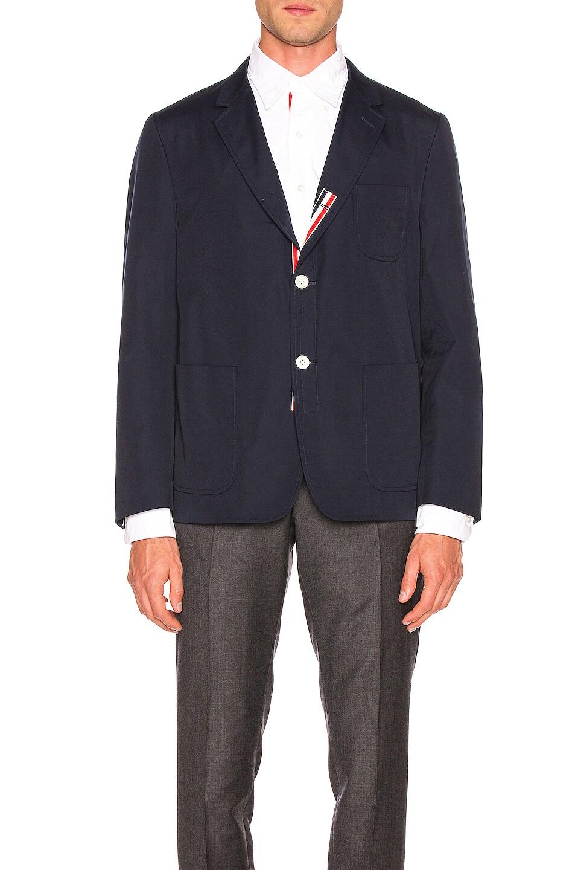 Image 2 of Thom Browne Patch Pocket Blazer in Navy