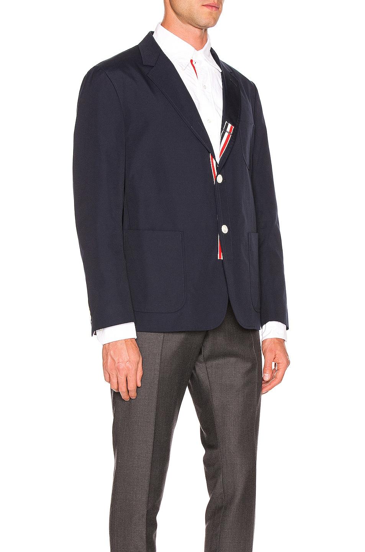 Image 3 of Thom Browne Patch Pocket Blazer in Navy