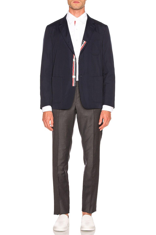 Image 5 of Thom Browne Patch Pocket Blazer in Navy