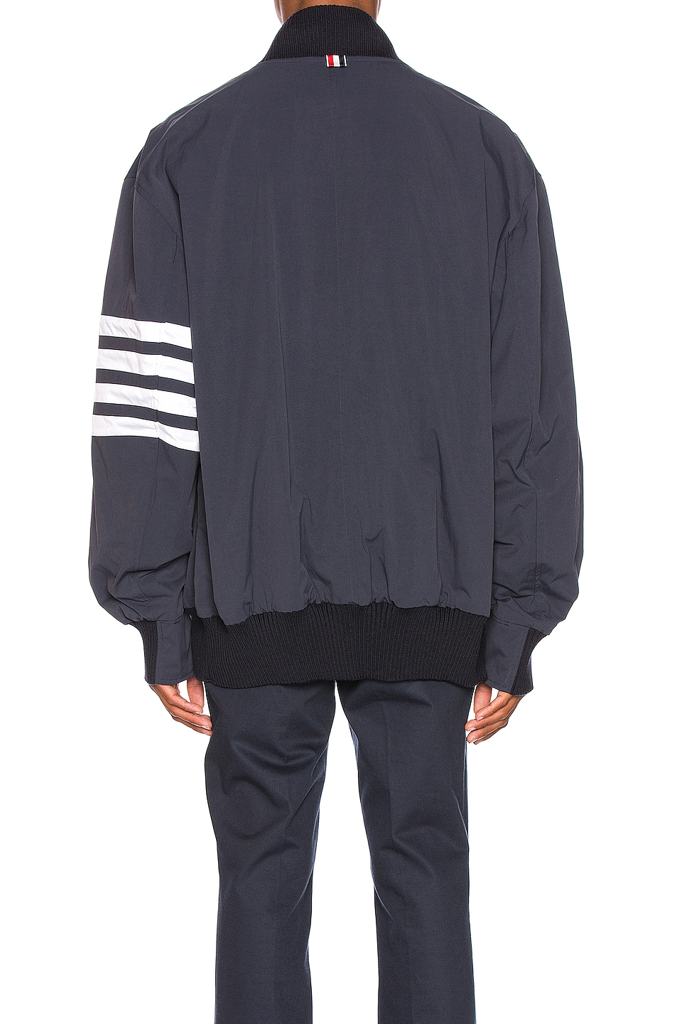 Image 6 of Thom Browne Oversized Double Zip Jacket in Navy