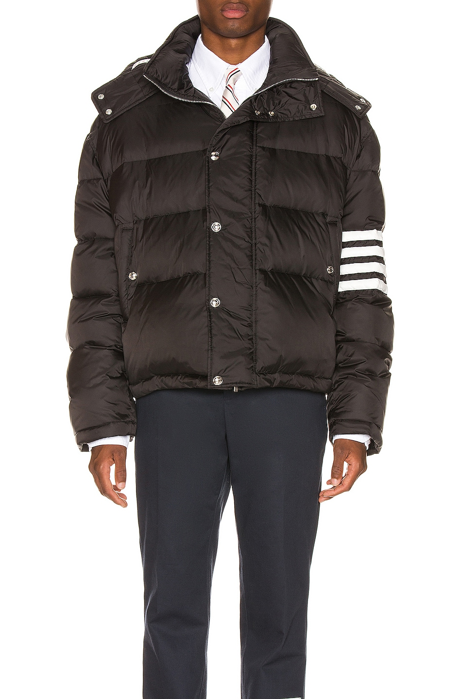 Image 1 of Thom Browne Downfilled Oversized Bomber Jacket in Black