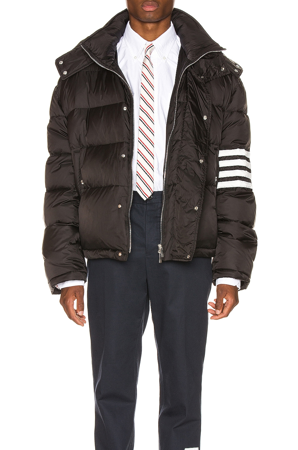Image 2 of Thom Browne Downfilled Oversized Bomber Jacket in Black