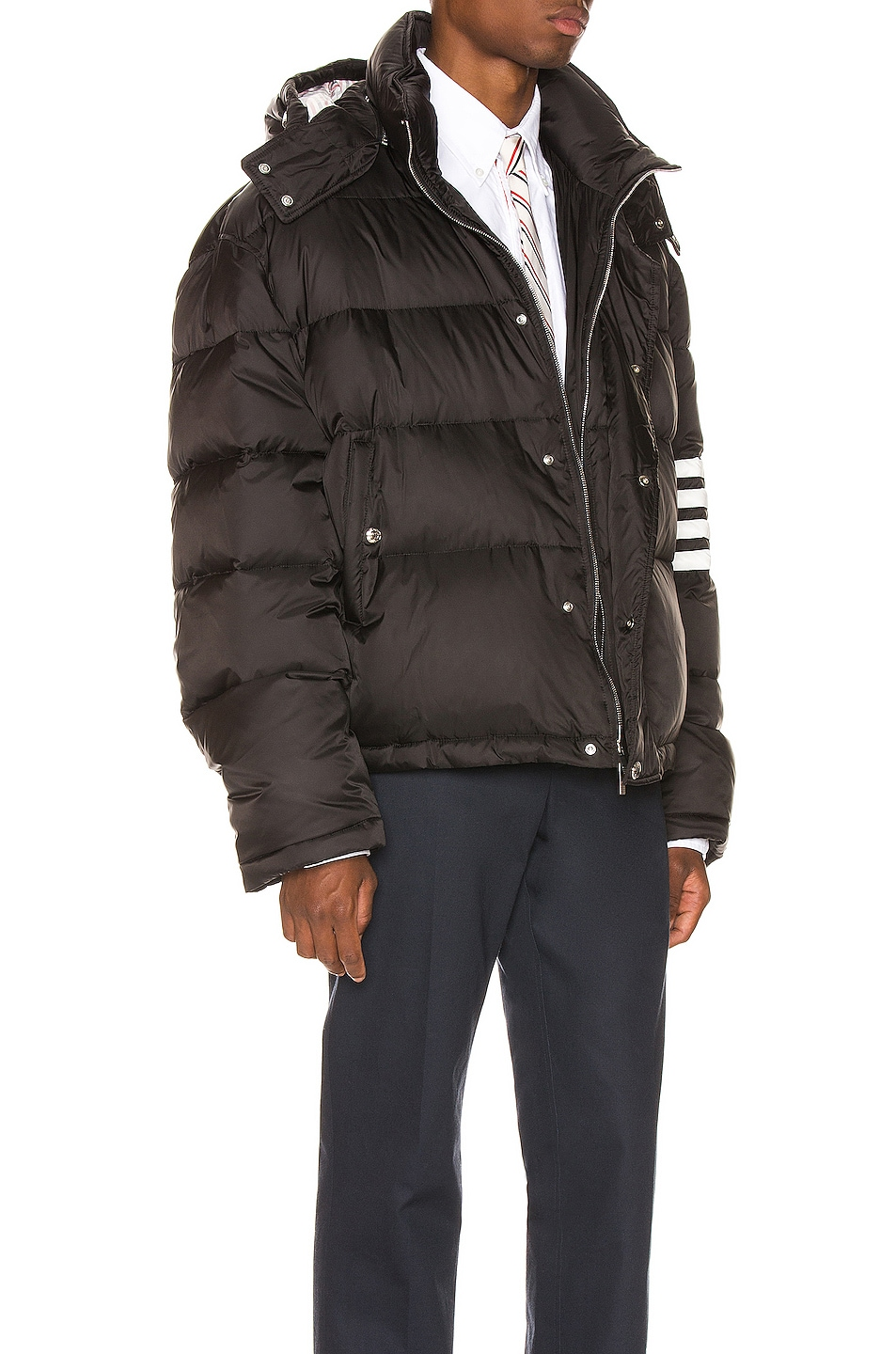 Image 3 of Thom Browne Downfilled Oversized Bomber Jacket in Black