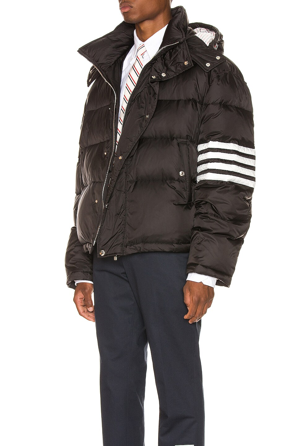 Image 4 of Thom Browne Downfilled Oversized Bomber Jacket in Black