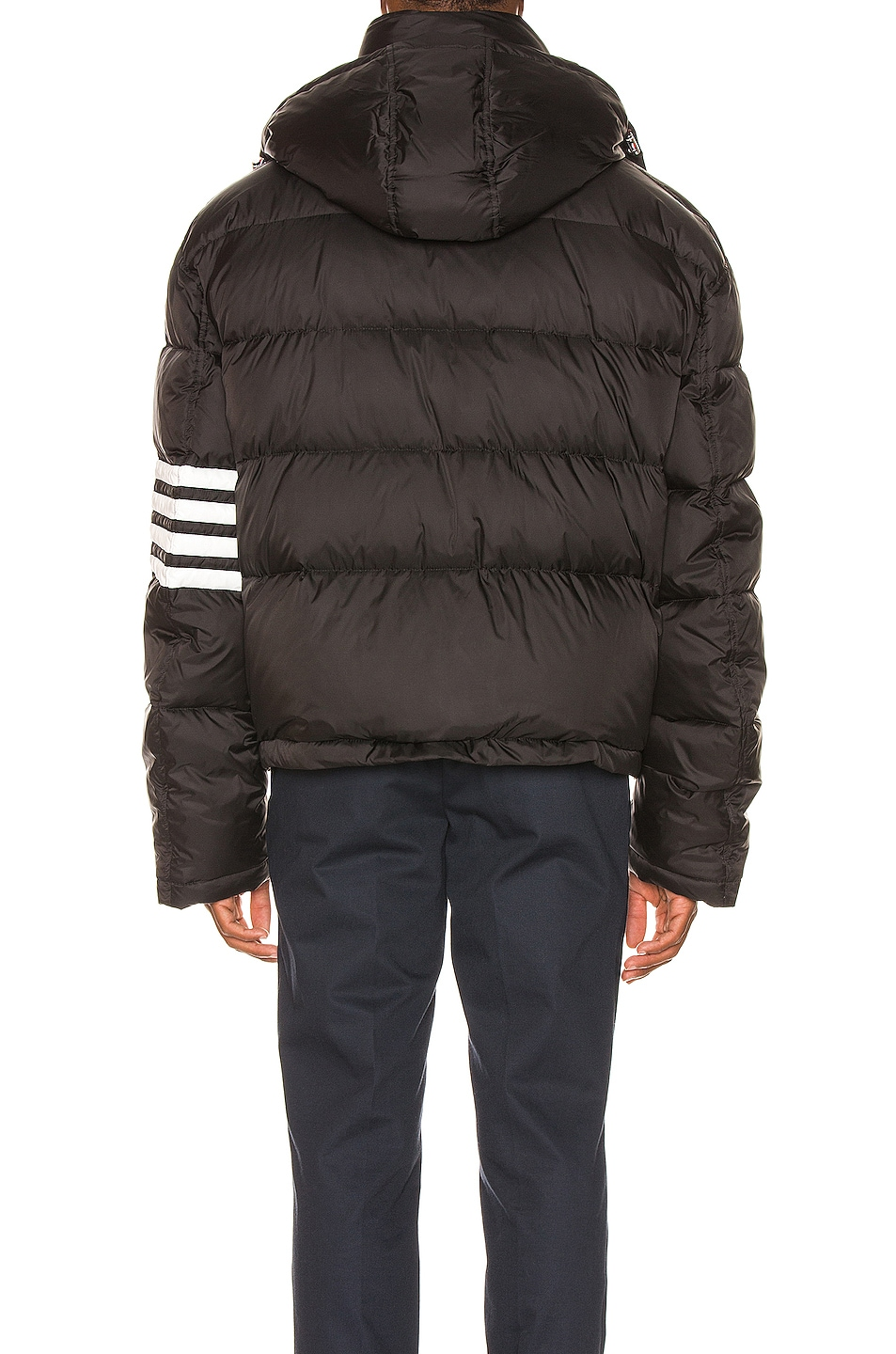 Image 5 of Thom Browne Downfilled Oversized Bomber Jacket in Black