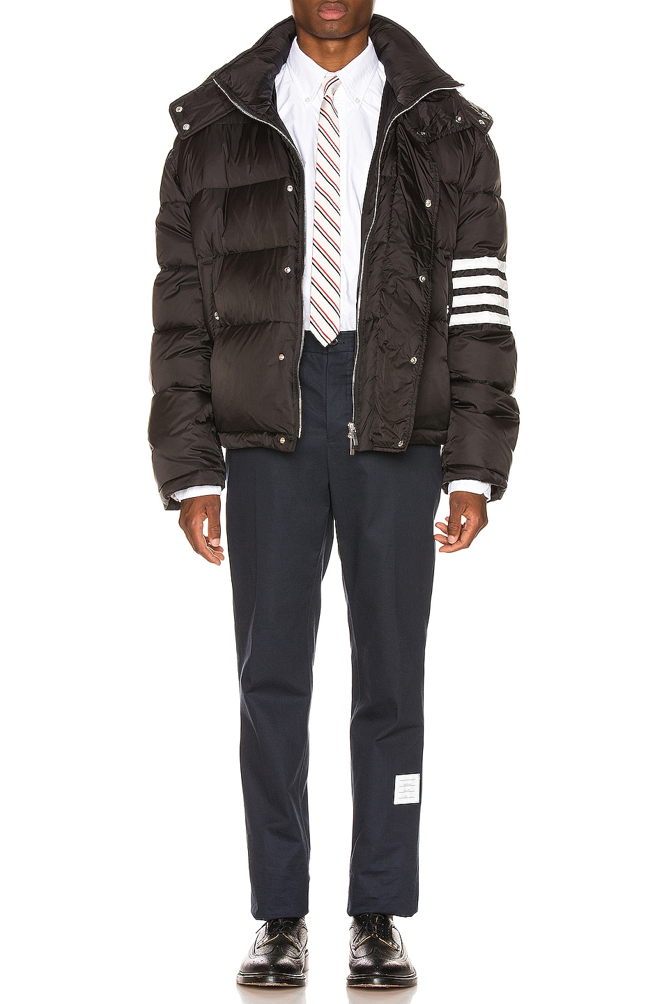 Image 7 of Thom Browne Downfilled Oversized Bomber Jacket in Black