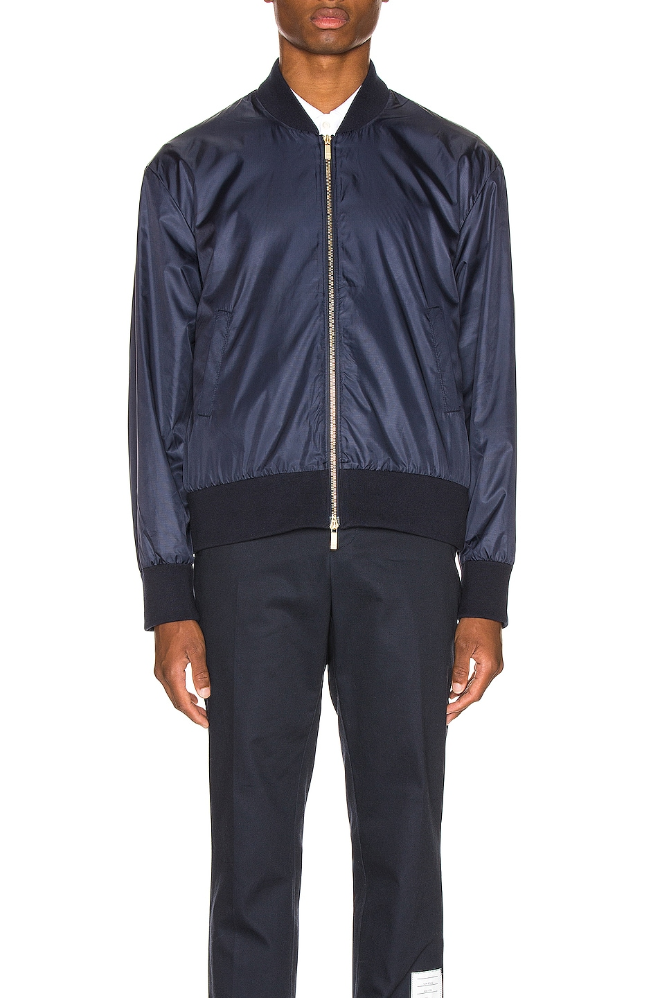Image 3 of Thom Browne Bomber Jacket in Navy