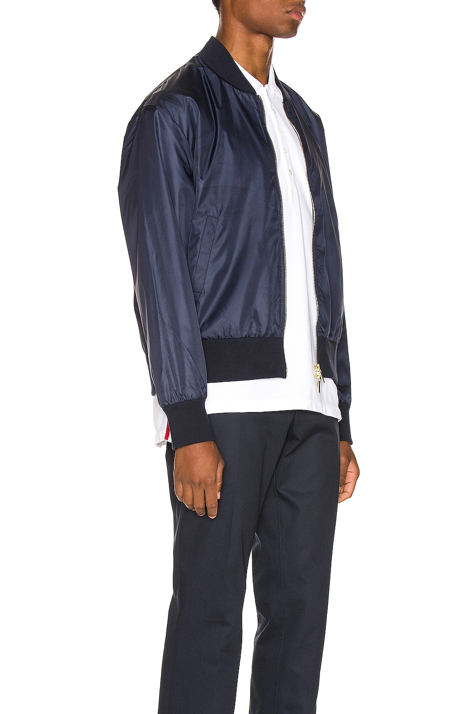 Image 4 of Thom Browne Bomber Jacket in Navy