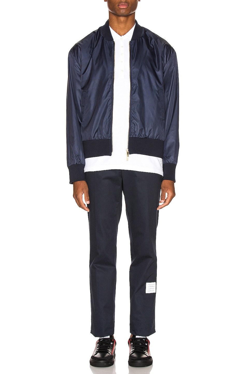 Image 6 of Thom Browne Bomber Jacket in Navy