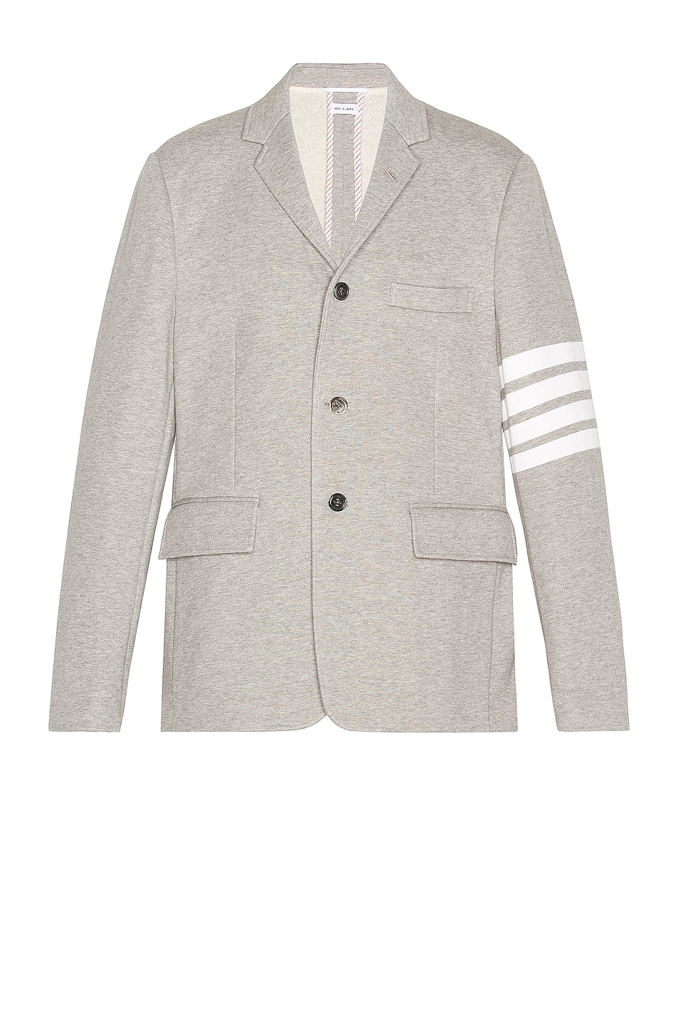 Image 1 of Thom Browne 4 Bar Unconstructed Suit Jacket in Light Grey