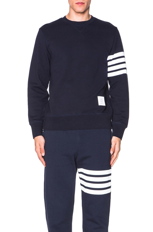 Image 1 of Thom Browne Classic Sweatshirt in Navy