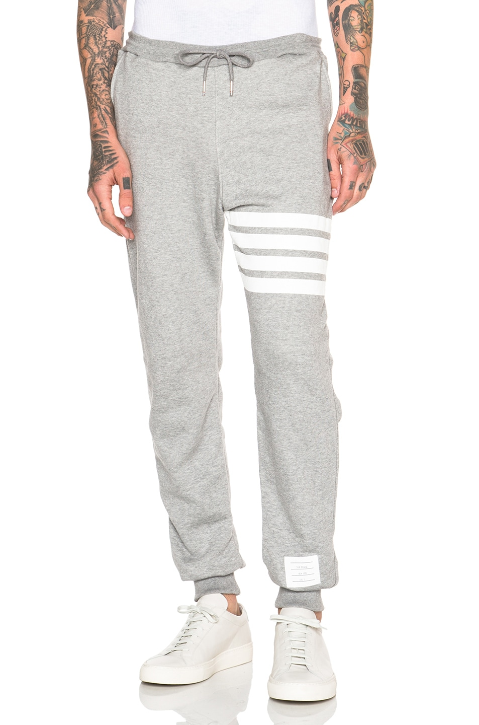 Image 1 of Thom Browne Classic Cotton Sweatpants in Light Heather Grey