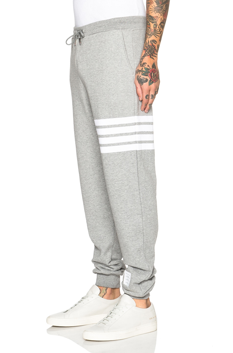Image 2 of Thom Browne Cotton Sweatpants in Light Heather Grey