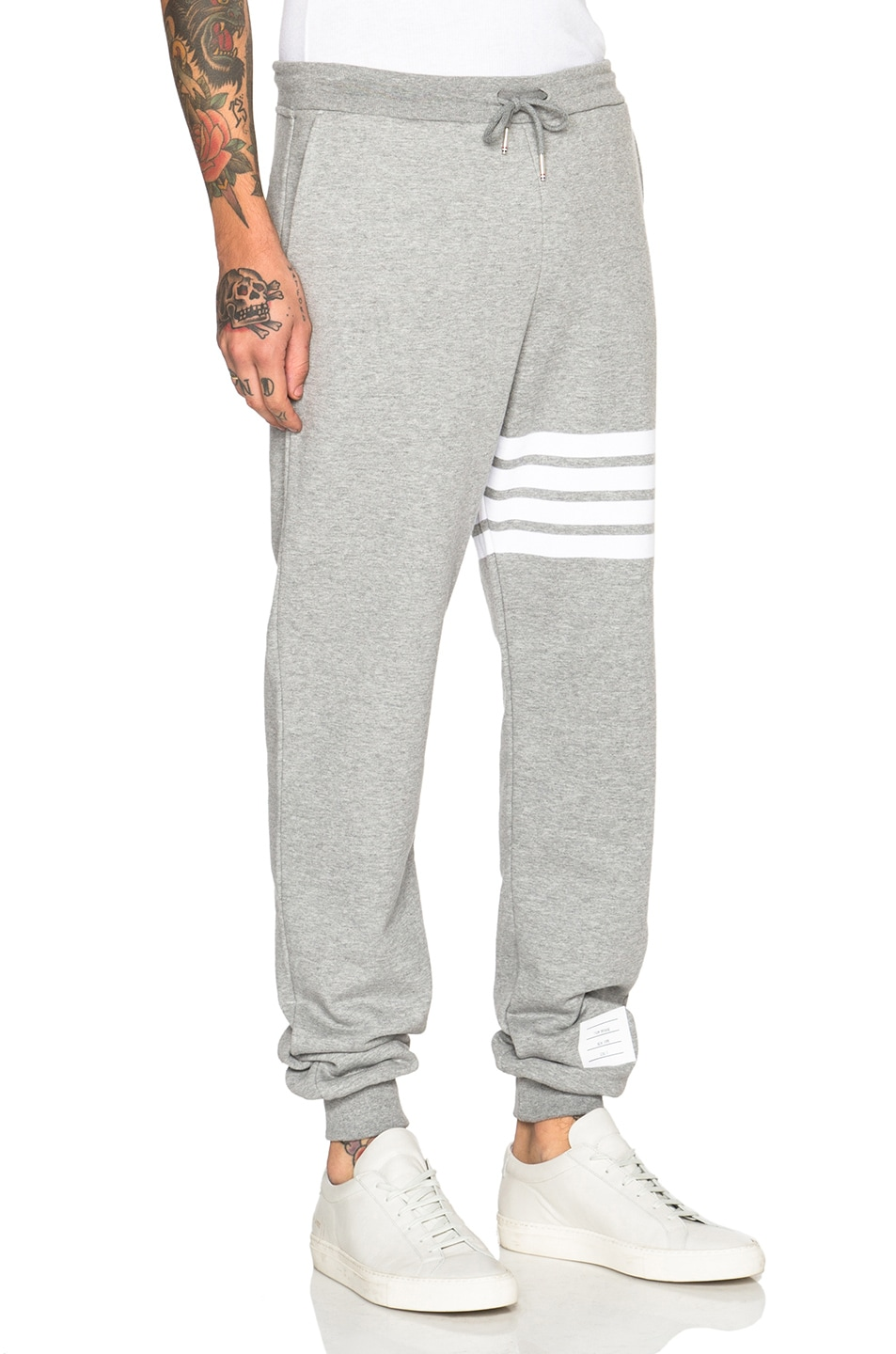 Image 3 of Thom Browne Cotton Sweatpants in Light Heather Grey
