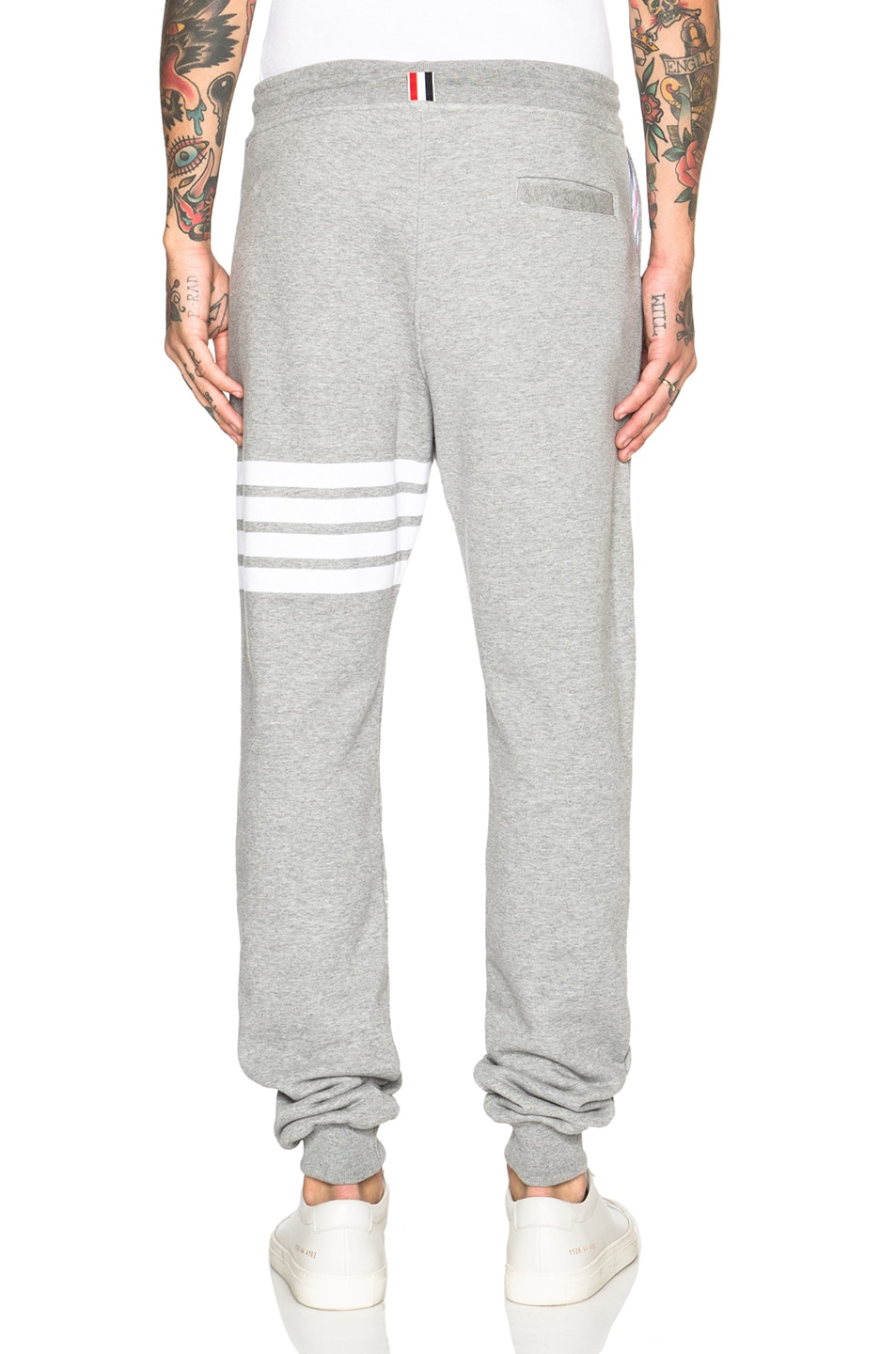Image 4 of Thom Browne Cotton Sweatpants in Light Heather Grey