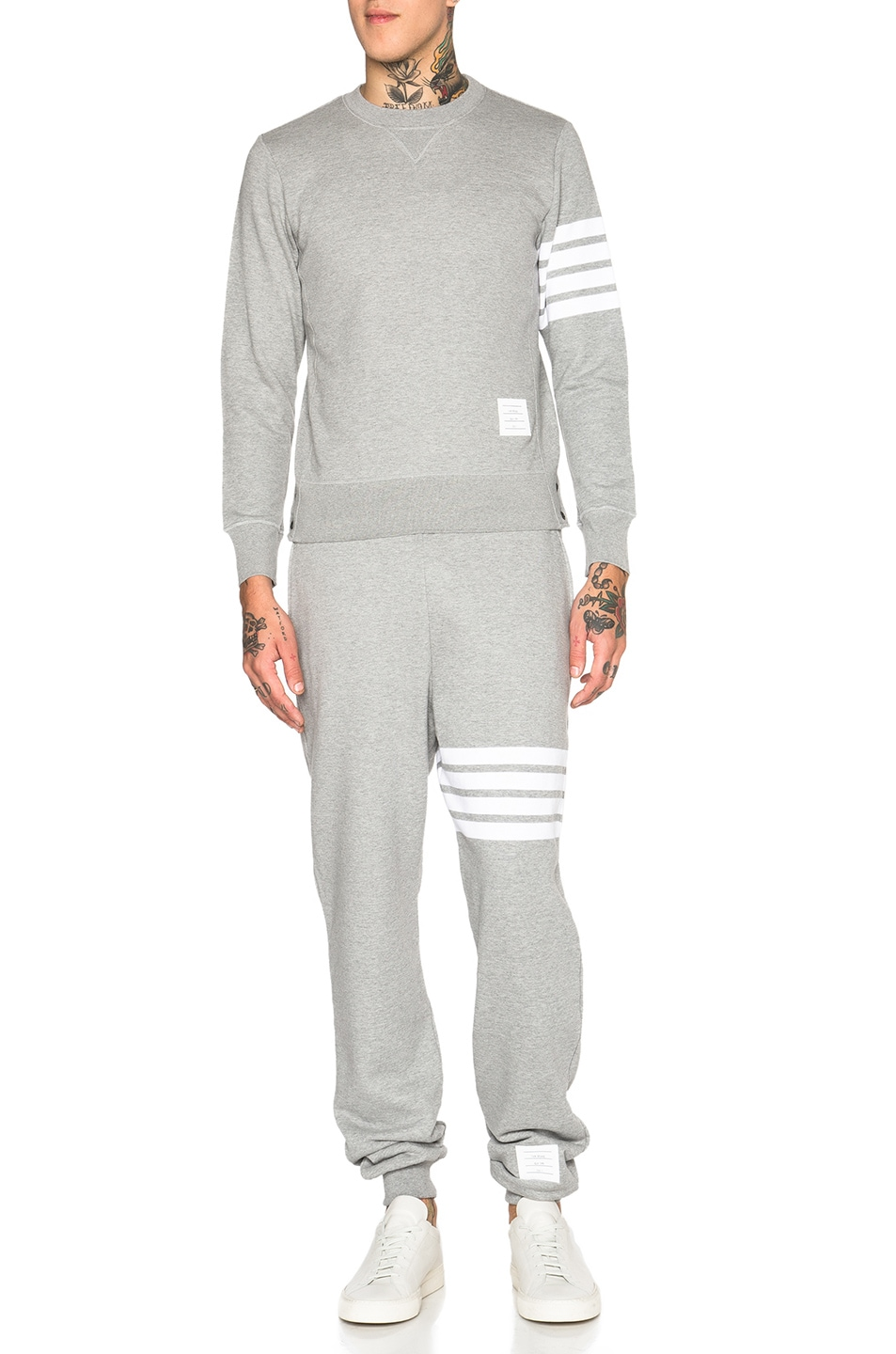 Image 5 of Thom Browne Cotton Sweatpants in Light Heather Grey