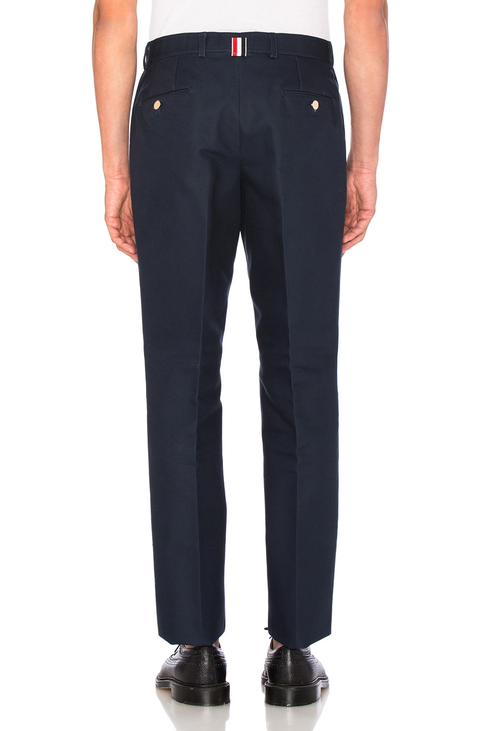 Image 4 of Thom Browne Unconstructed Chino Pants in Navy