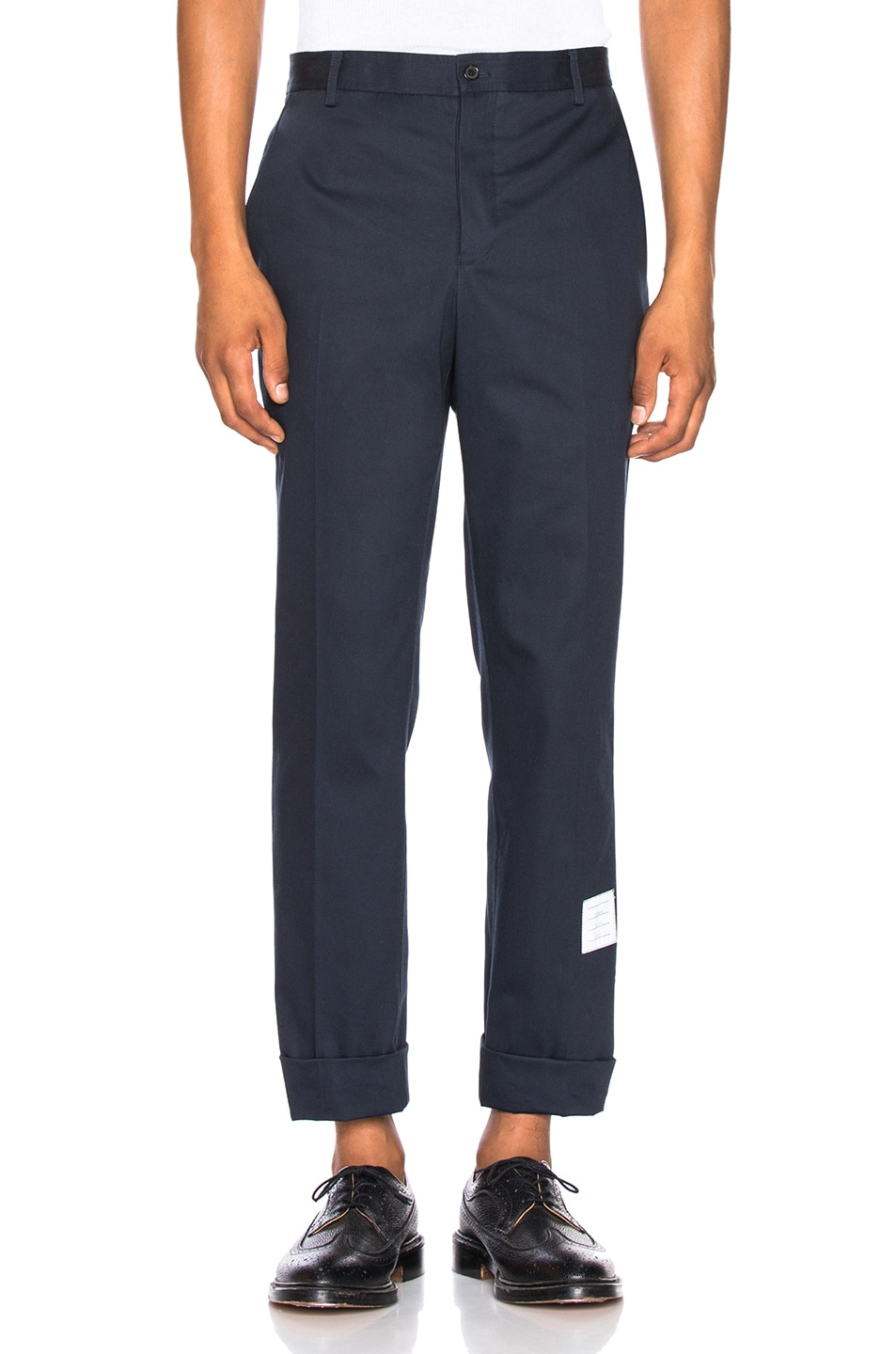 Image 1 of Thom Browne Unconstructed Chino in Navy