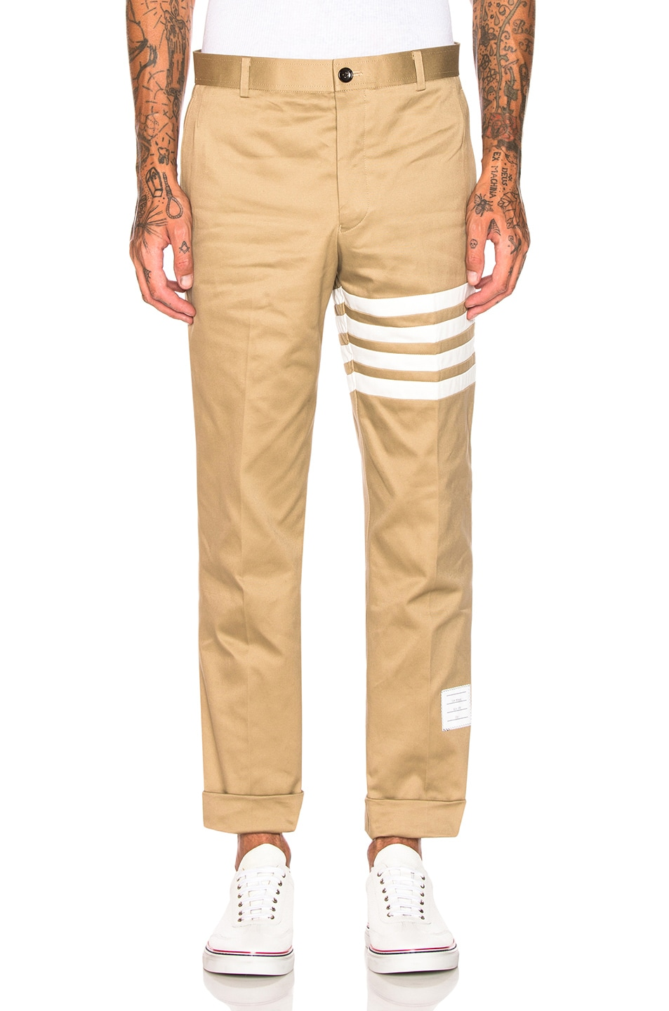 Image 1 of Thom Browne Cotton Twill Unconstructed Chino in Camel