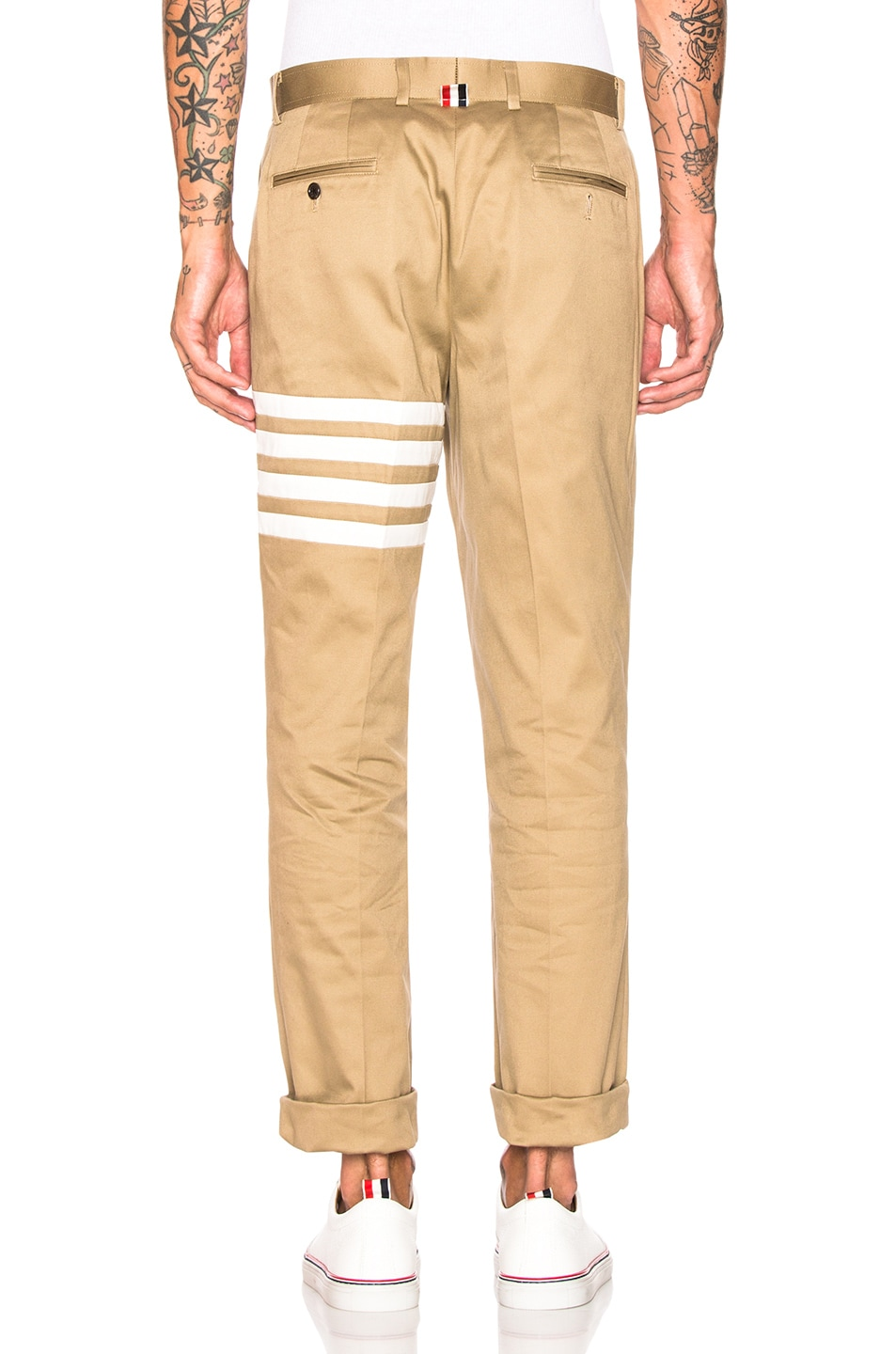 Image 4 of Thom Browne Cotton Twill Unconstructed Chino in Camel