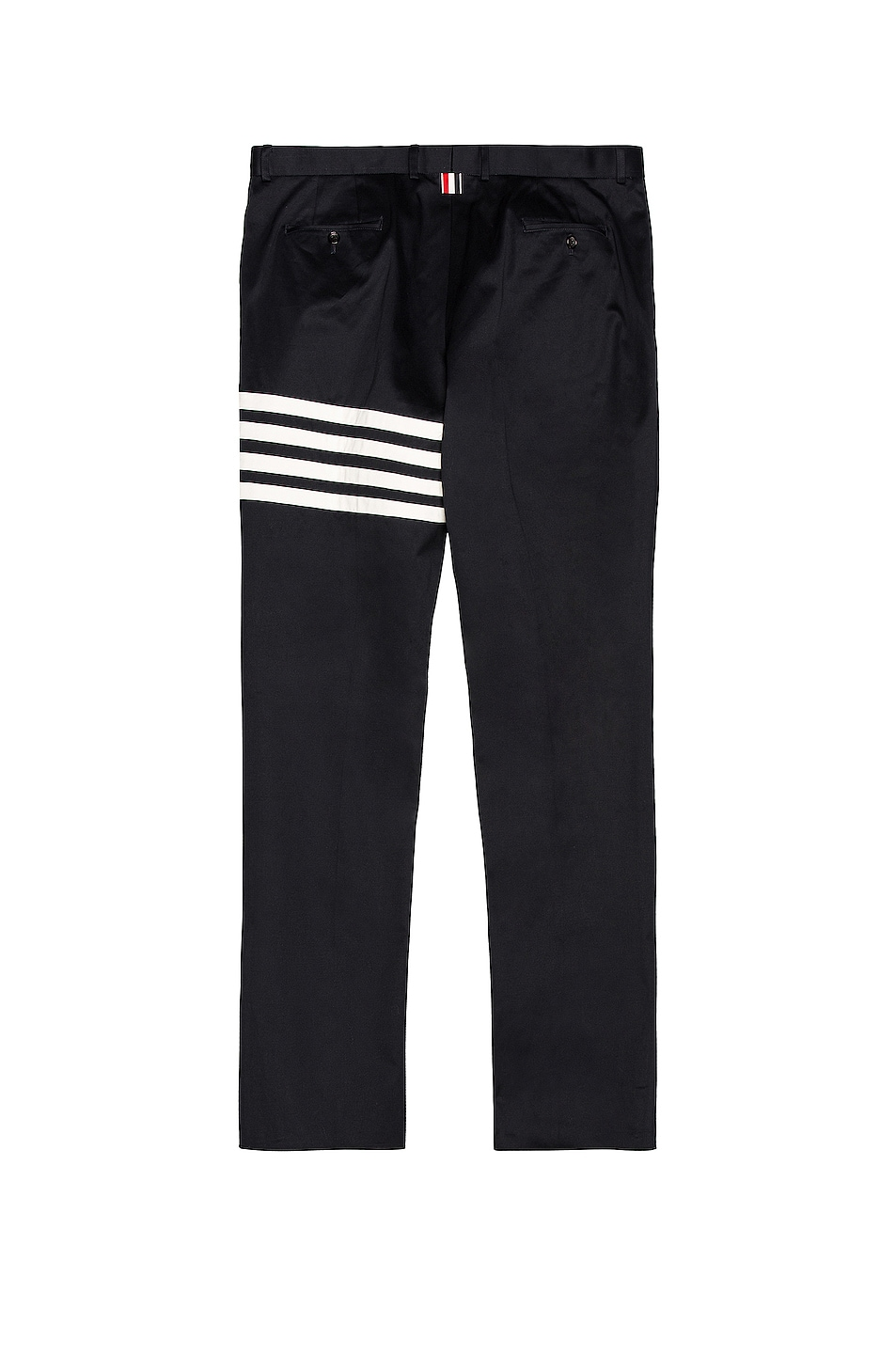 Image 2 of Thom Browne Cotton Twill Unconstructed Chino in Navy