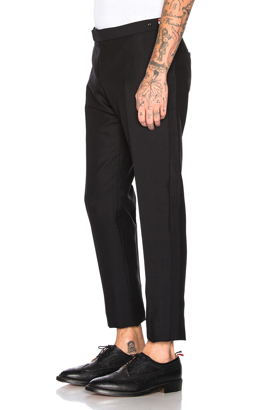 Image 3 of Thom Browne Trousers in Black