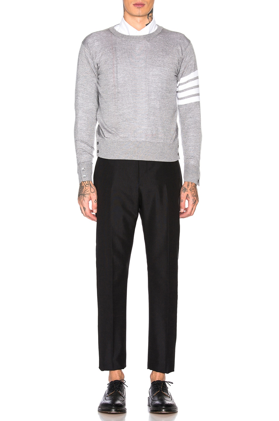 Image 5 of Thom Browne Trousers in Black