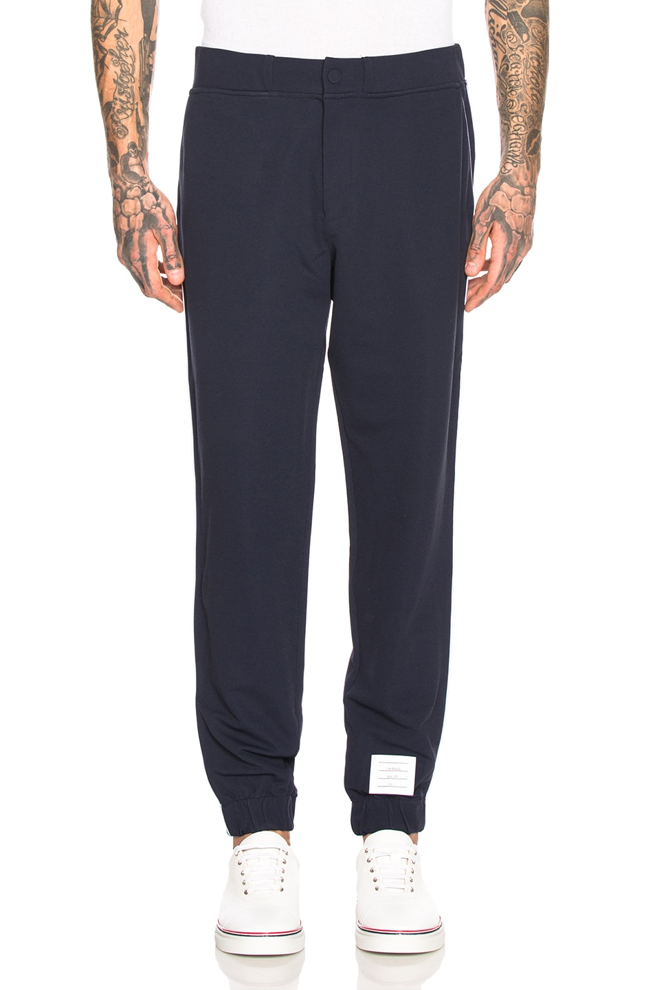 Thom Browne Technical Knit Piping Sweatpants Navy 80%OFF