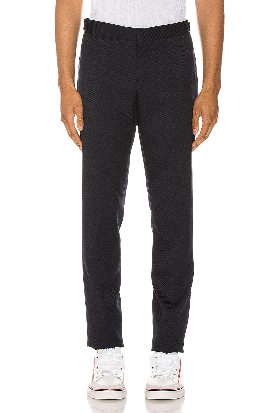 Image 2 of Thom Browne Unconstructed Skinny Trouser in Navy