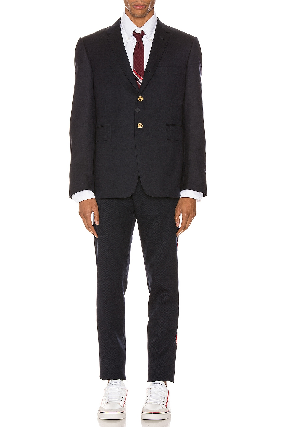 Image 5 of Thom Browne Unconstructed Skinny Trouser in Navy