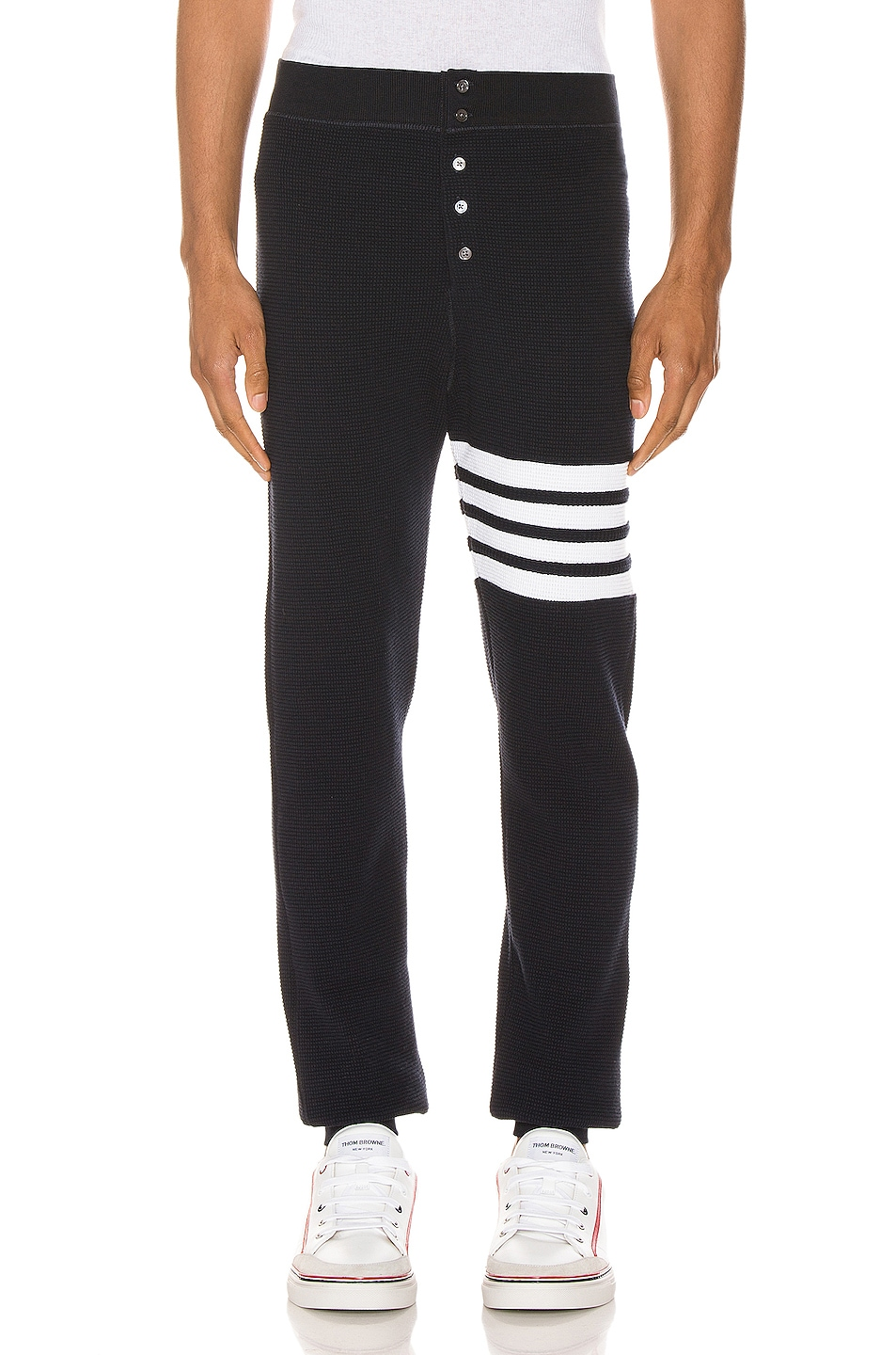 Image 1 of Thom Browne 4 Bar Long Johns Pants in Navy
