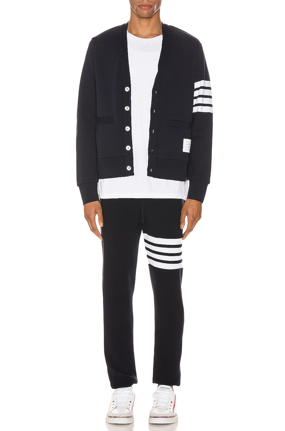 Image 5 of Thom Browne 4 Bar Long Johns Pants in Navy