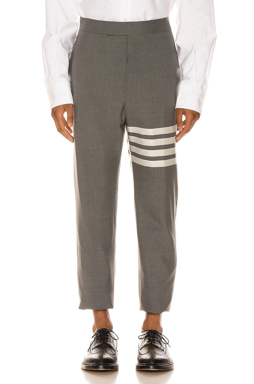 Image 1 of Thom Browne 4 Bar Backstrap Trouser in Medium Grey