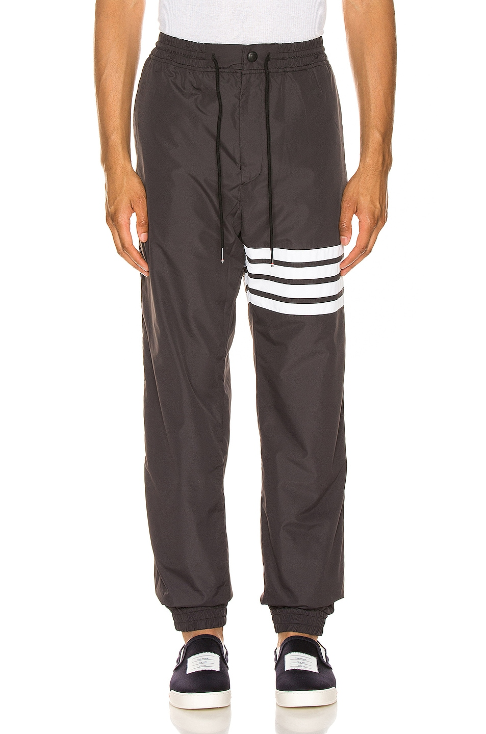 Image 1 of Thom Browne Track Pants in Charcoal
