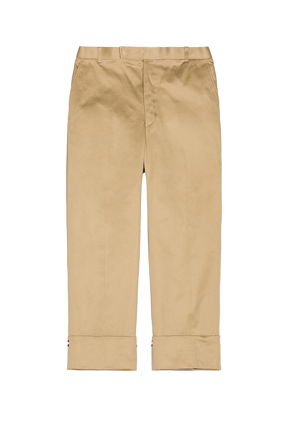 Image 1 of Thom Browne Straight Leg Trouser in Camel