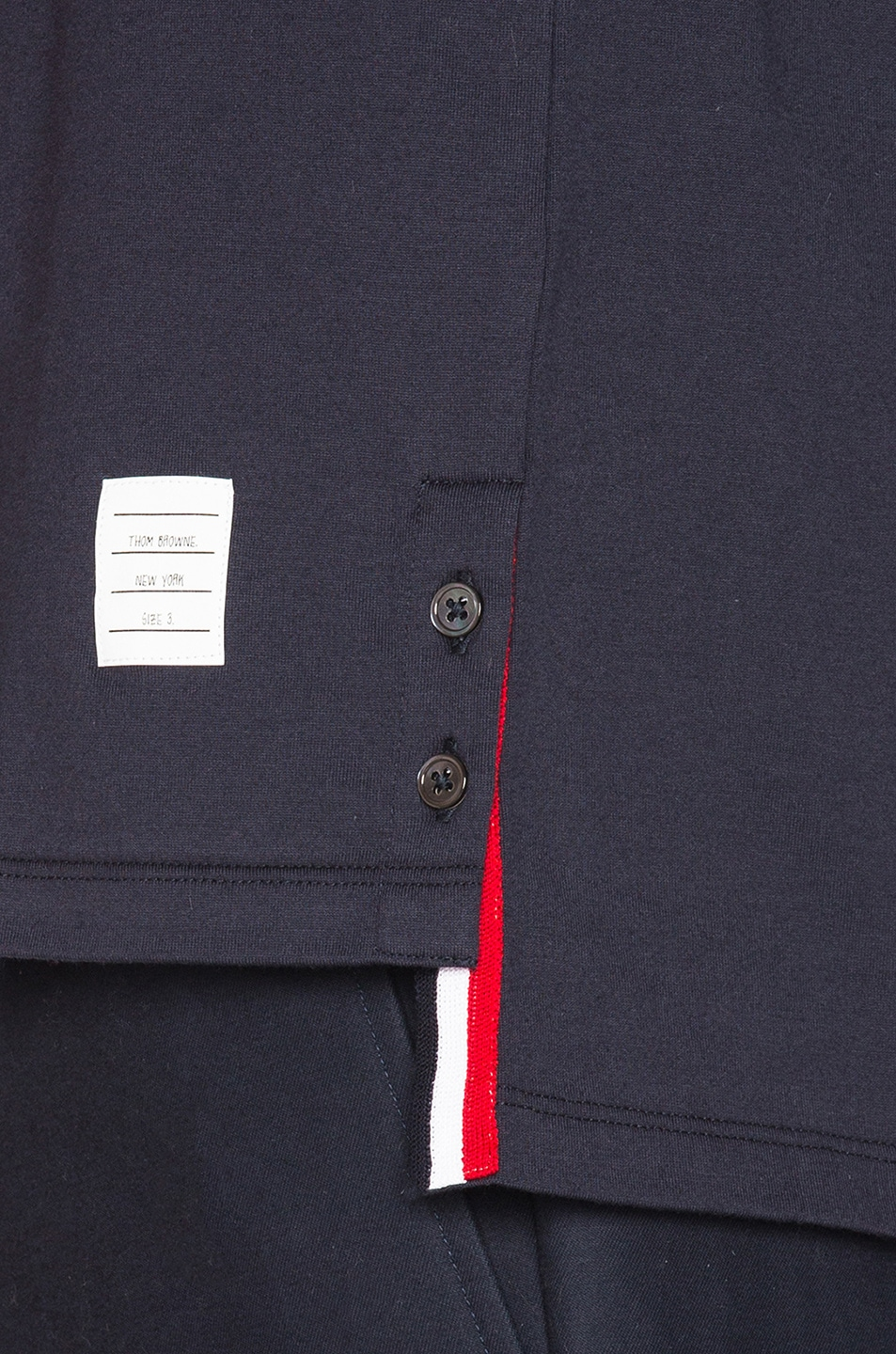 Image 6 of Thom Browne Jersey Cotton Short Sleeve Pocket Tee in Navy
