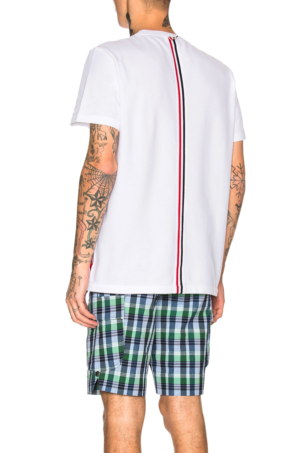 Image 1 of Thom Browne Pique Classic Short Sleeve Tee in White