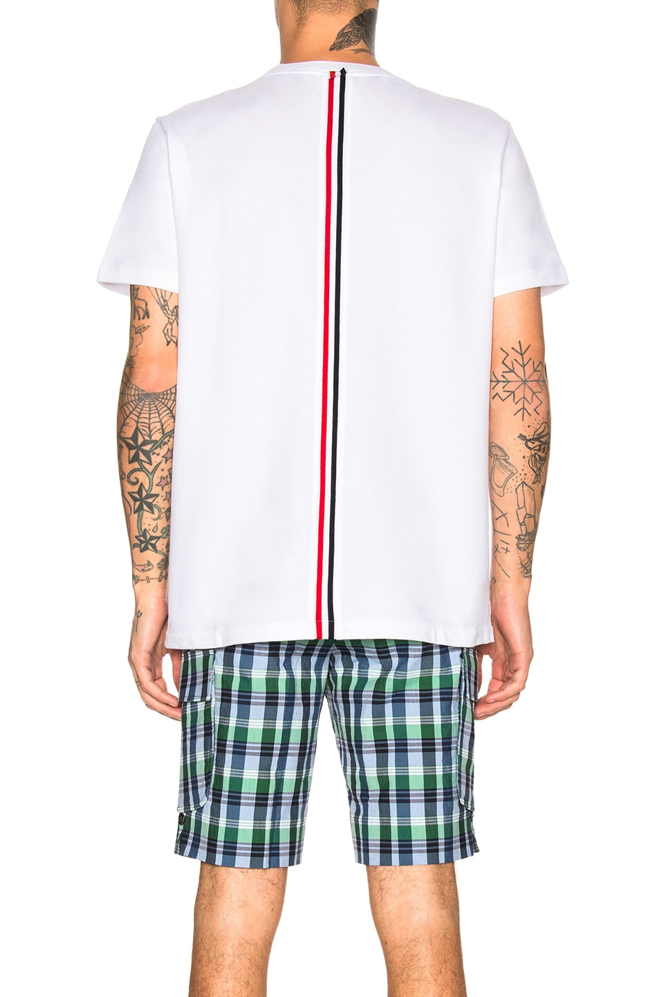 Image 4 of Thom Browne Pique Classic Short Sleeve Tee in White