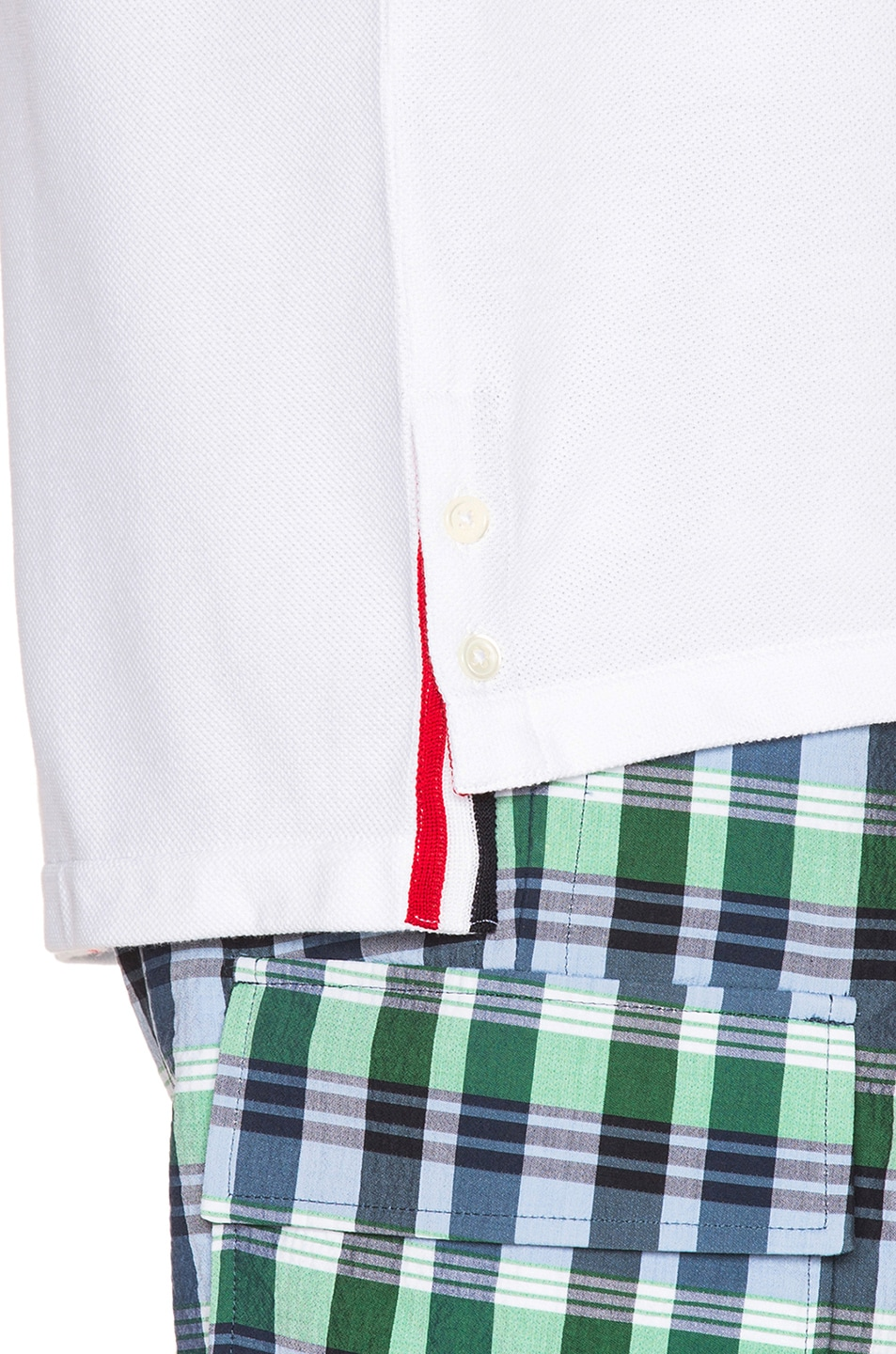 Image 6 of Thom Browne Pique Classic Short Sleeve Tee in White