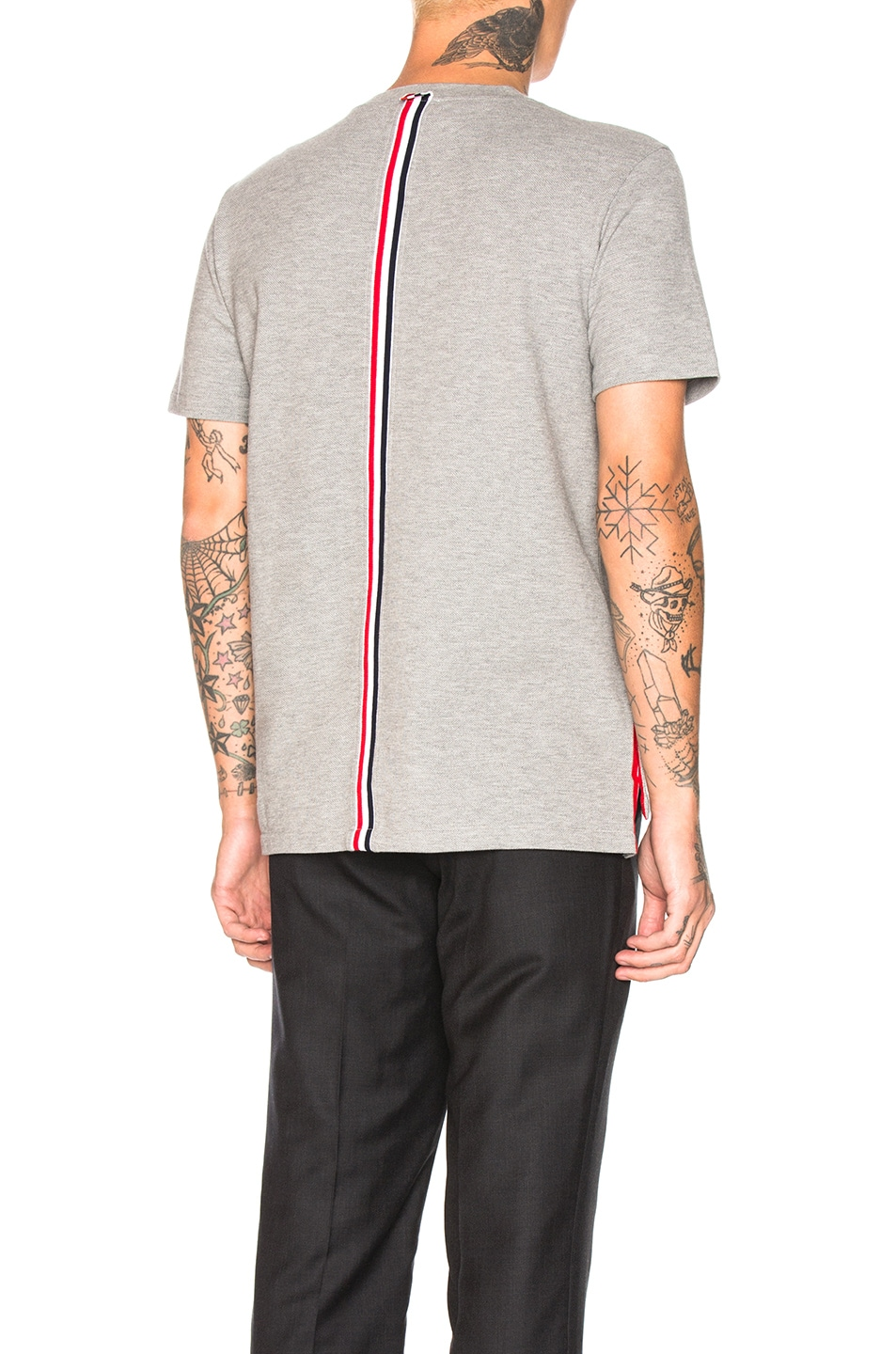 Image 1 of Thom Browne Backstripe Pique Shirt in Light Grey