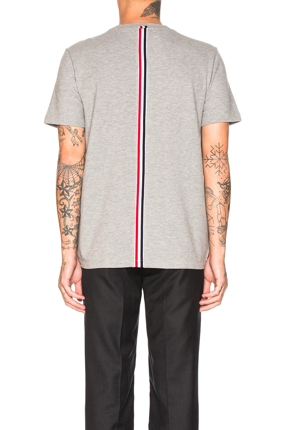 Image 5 of Thom Browne Backstripe Pique Shirt in Light Grey