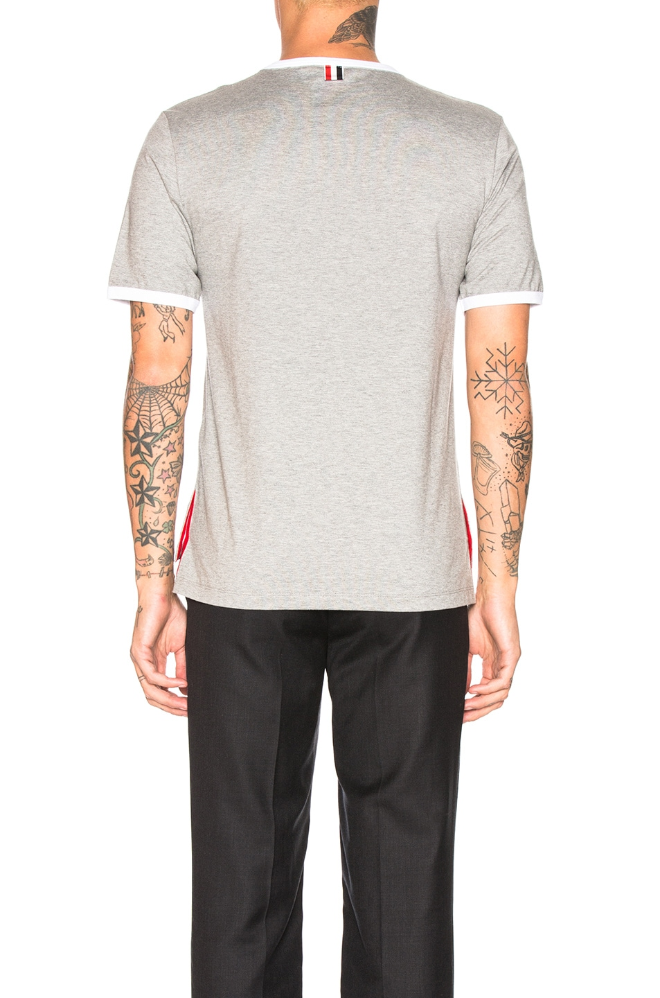 Image 4 of Thom Browne Ringer Tee in Light Grey