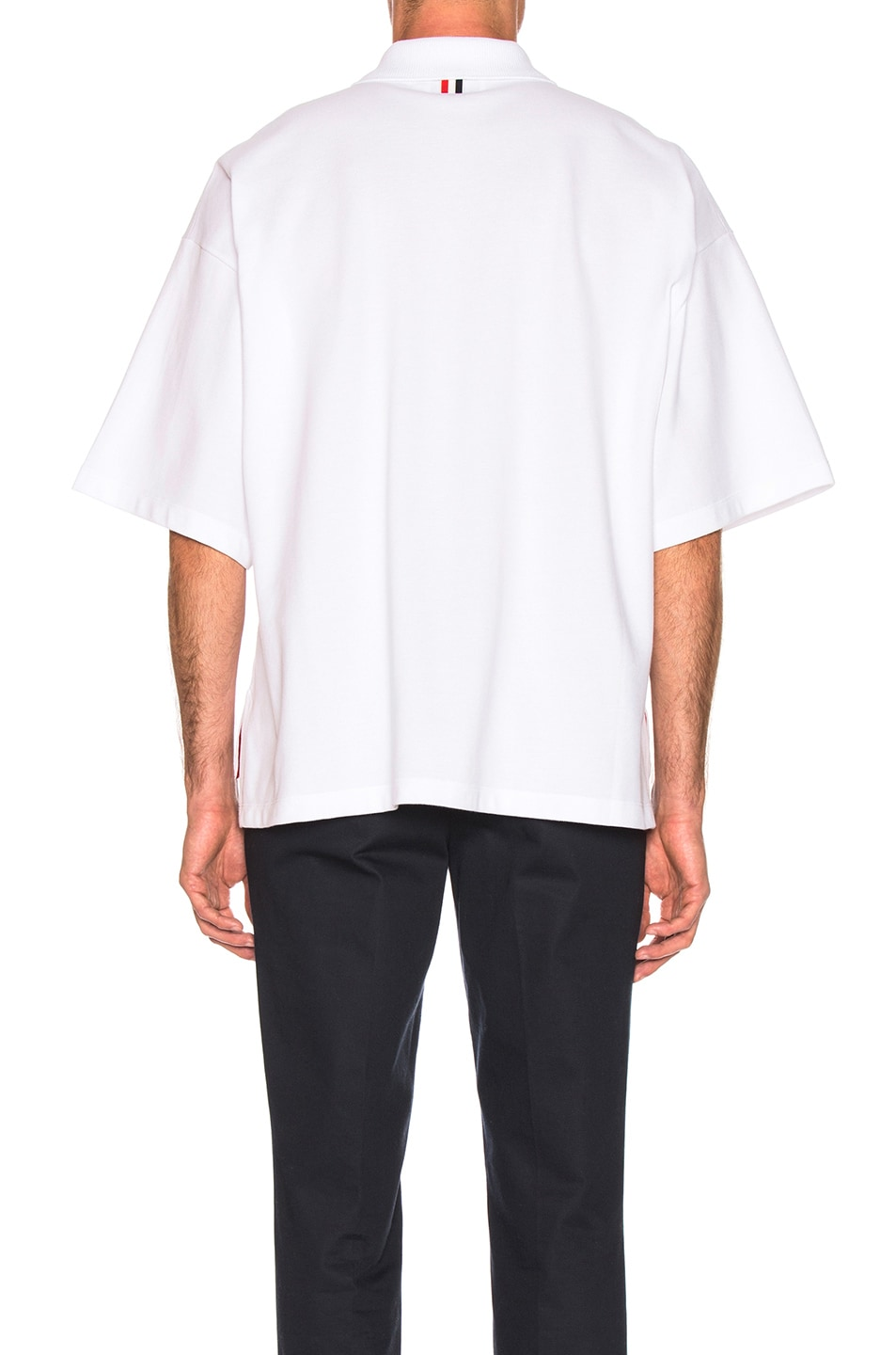 Image 3 of Thom Browne Oversized Pocket Polo in White