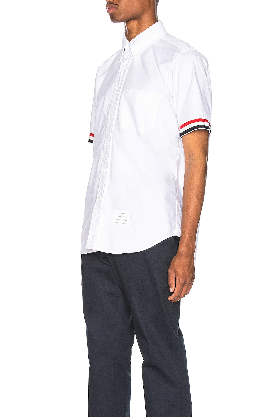 Image 3 of Thom Browne Collar Button Down Shirt in White
