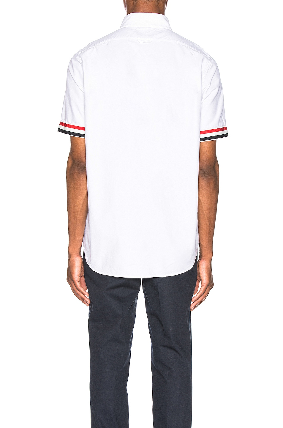 Image 4 of Thom Browne Collar Button Down Shirt in White